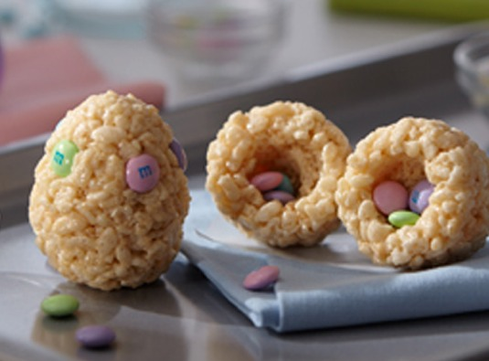 easter rice krispies eggs