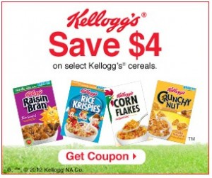 image regarding Printable Cereal Coupons called Sizzling Fresh Backlink towards $4/4 Kelloggs Cereal Printable Discount coupons +