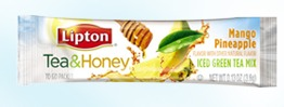 lipton tea & honey sample