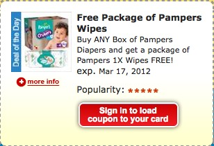pampers kroger coupon