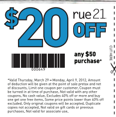 image relating to Rue 21 Printable Coupon identified as Rue 21 coupon codes within just retail store 2018 - Inexpensive lodge bargains liverpool
