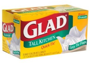 Today Only: $4 Glad Trash Bags at Vons