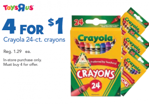 TRU crayola 25 300x210 Toys R Us: Crayola Crayons for 25 cents Each