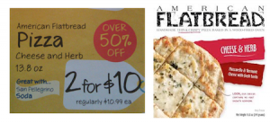 American Flatbread Pizza coupon: $3 at Whole Foods