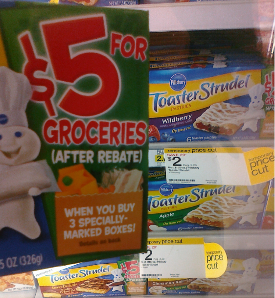 pillsbury toaster strudel grocery cash offer