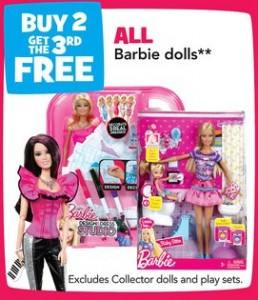 barbie fashionista tru 258x300 Toys R Us: Three Barbie Fashionistas for $23.98 after Printable Coupons (through 5/26)