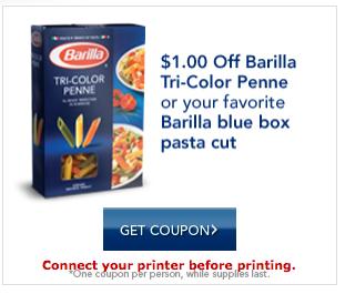 barilla pasta printable coupons
