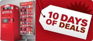 redbox 255x300 horz 300x134 Redbox: 10 Days of Deals Text Offer!