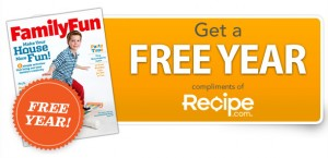 FFN Recipe Slice1 300x145 Free Subscription to Disney Family Fun Magazine