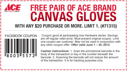 ace Ace Hardware: Free Canvas Gloves, June Rebates + Upcoming Free Paint Event!