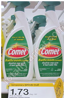 comet bathroom spray Target: Comet Bathroom Cleaner Spray Just 98¢