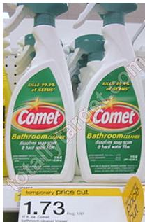 Target Comet Bathroom Cleaner Spray Just 98