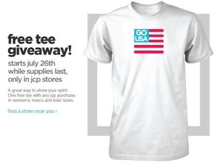 JCPenney free shirt