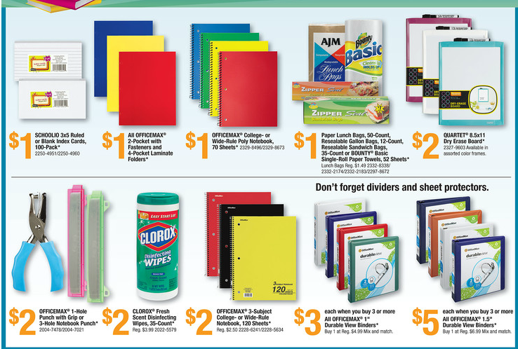 OfficeMax Back to School Deals for 07/29-08/04