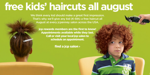 free haircuts jc penney Free Haircuts at JC Penney Salons *Reminder*