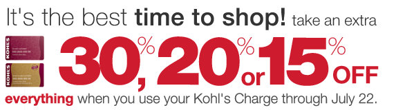 30 of kohls coupon