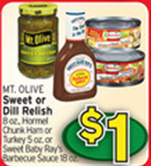 mt olive Free Mt. Olive Sweet or Dill Relish at Albertsons