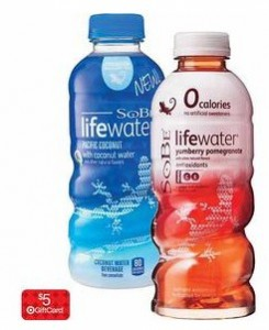 sobe Target 245x300 Target: Sobe Life Water only 50¢ each after Gift Card