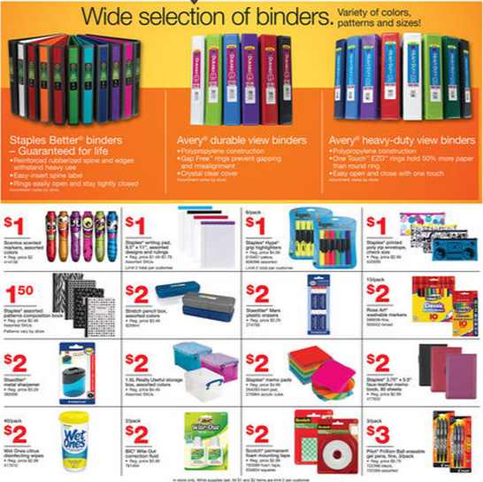 staples deals 08 19 08 25