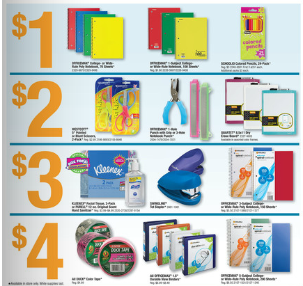 OfficeMax Deals for 08/26-09/01