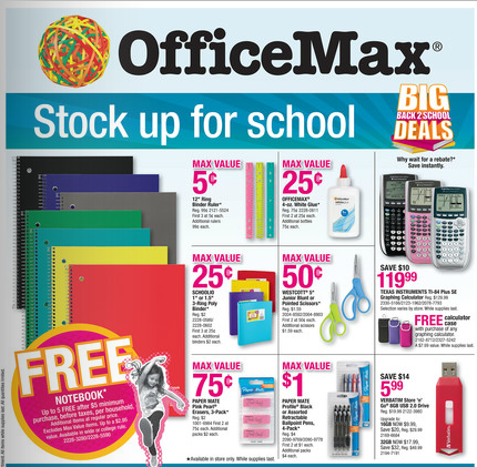 OfficeMax Deals for 09/02-09/08