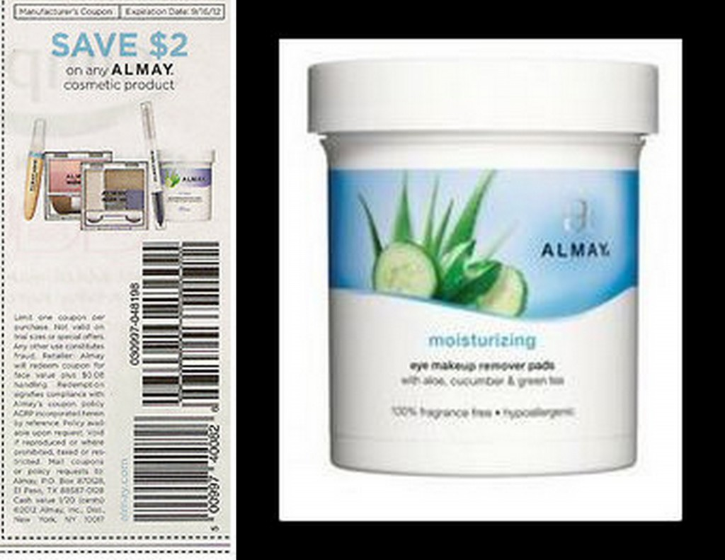 almay pic and coupon 1024x791 New $2 Almay Coupon = FREE Cosmetic Remover Pads at Walmart