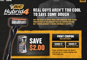 image relating to Bic Printable Coupons named Contemporary $2 Bic Hybrid Progress 4 Razor Printable Coupon Well-liked