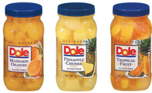 dole New Dole Fruit Jars Coupon + Walmart Scenario