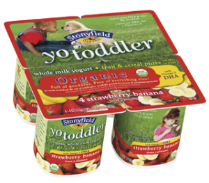 New Stonyfield YoToddler Organic Yogurt Coupon: Save $1 off One (Only $1.28 at Walmart)