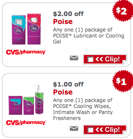 poise coupons Poise Products for Only 49¢ At CVS