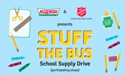 stuff the bus Krispy Kreme Stuff the Bus School Supply Drive and Get Free Doughnuts