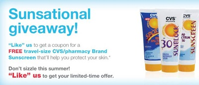 sunscreen FREE CVS Sunscreen Coupon (Request and Get Emailed to You)