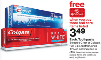 target oral care Target: Colgate Oral Care Gift Card Moneymaker Scenario