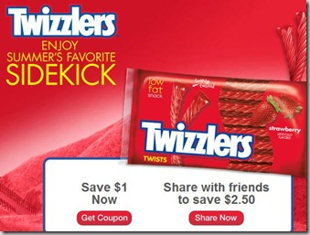 twizzlers New $2.50 Off Twizzlers CVS Coupon