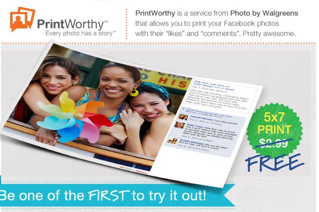 waglreens PrintWorthy: FREE 5x7 Photo Print