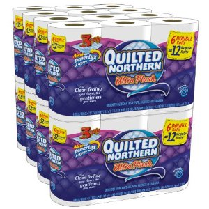 61x8FfsSVkL. AA300  Quilted Northern Ultra Plush 48 Double Rolls for $21.74 Shipped (23¢ per single roll)