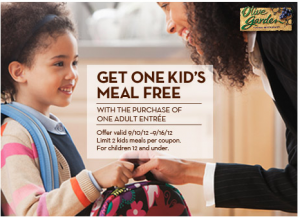 Screen Shot 2012 09 10 at 5.48.28 PM 300x217 Olive Garden: FREE Kids Meal Coupon