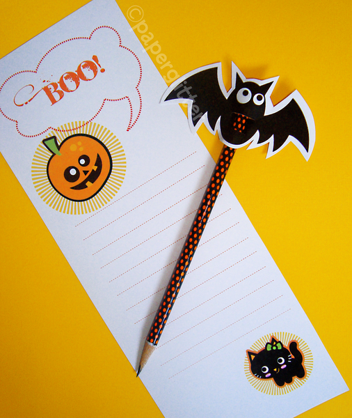 boo FREE Printable Halloween Pencil Topper & Stationery