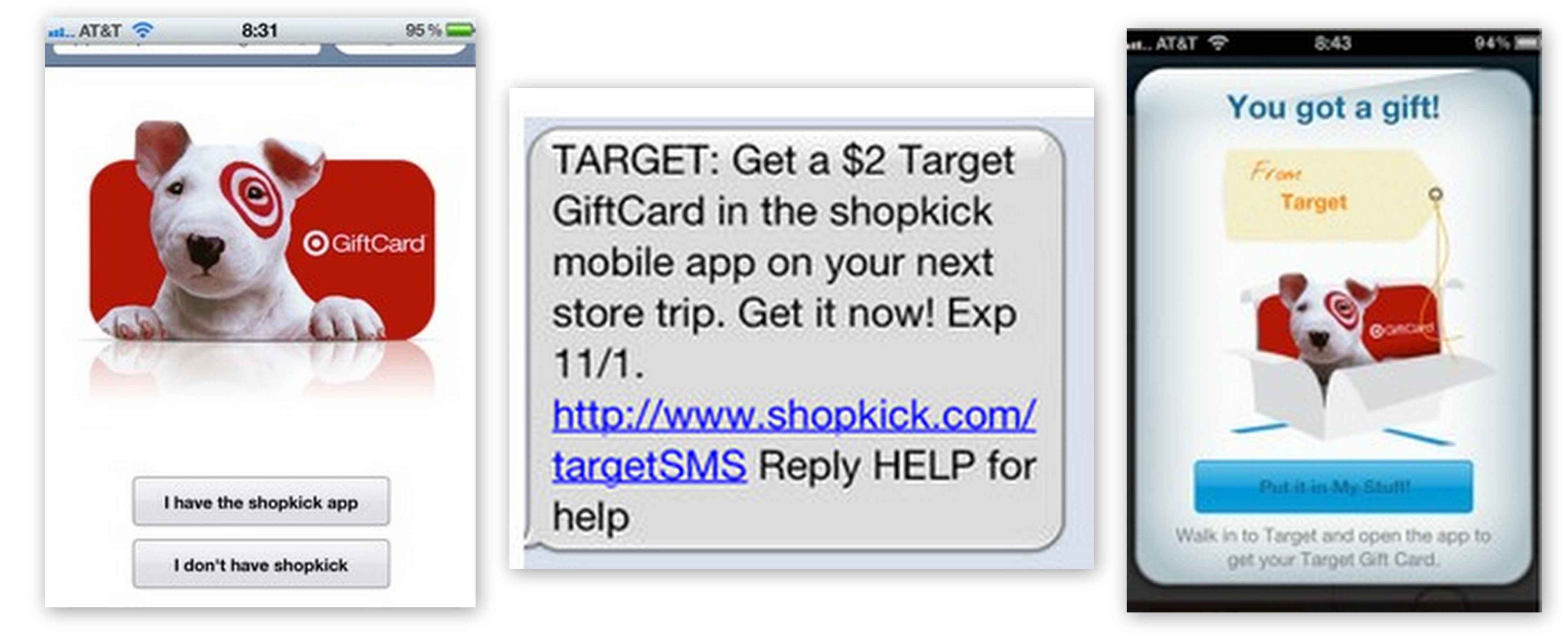 FREE $2 Target Gift Card From Shopkick App