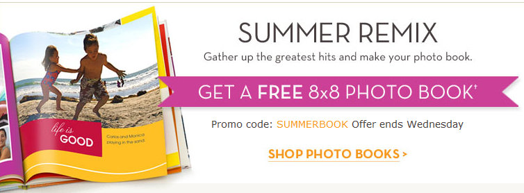 shutterfly Free 8x8 Photo Book from Shutterfly.com *Reminder*