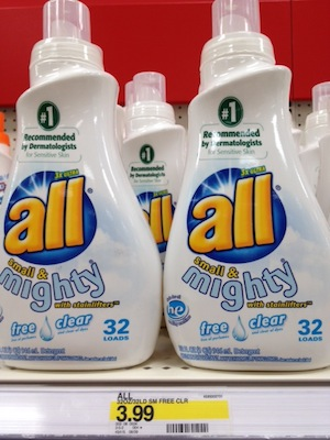 Target-Unadvertised-Deal-All-Free-Clear-Detergent