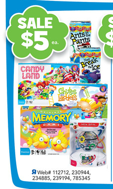 board games printable coupons Toys R Us: Candy Land and Memory Game only $4 each