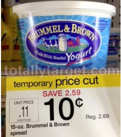 brummel spread Target: Brummel & Brown Spread only 10¢