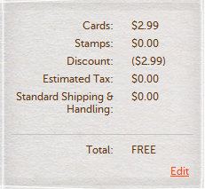 card checkout Cardstore.com: FREE Customized Greeting Card + FREE Shipping!