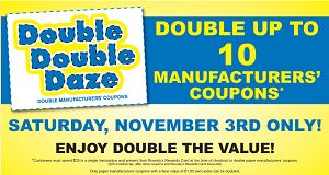 coppspick n save match ups double daze october 31st double double daze november 3rd Copps/Pick 'n Save Match Ups: Double Daze October 31st & Double Double Daze November 3rd!
