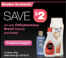 cvs coupon CVS Beauty Club Coupons = FREE Nail Polish Remover