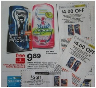gilletterazor Target: Gillette Fusion ProGlide Razors Just 89¢