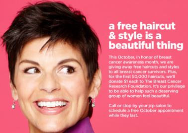 jcpenney JC Penney: FREE Haircuts for Breast Cancer Survivors