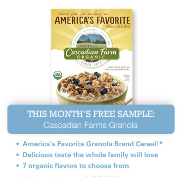 live better Live Better America: FREE Sample of Cascadian Farms Granola