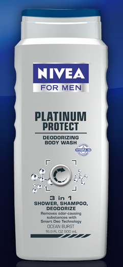 nivea for men Free Nivea For Men Platinum Protect 3 in 1 Body Wash Sample